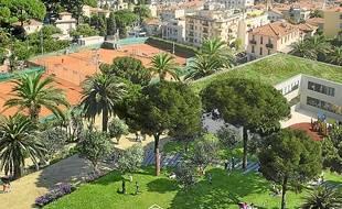 Le quartier du Ray avec sa pelouse (illustation donnée à titre indicatif).