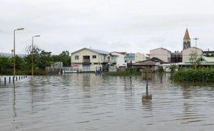 Vue partielle de la ville de Rivière Pilote après les fortes pluies de la nuit du 04 au 05 mai 2009