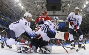 Américains contres Russes en hockey