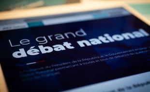 Illustration du site internet du grand débat national, mis en place par le gouvernement français, en réponse au mouvement des gilets jaunes.