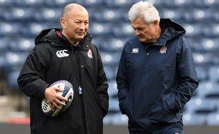 Eddie Jones (à gauche) aux côtés de Neil Craig à Murrayfield.