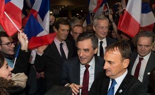 Lyon, le 22 novembre 2016. François Fillon lors de son meeting à Chassieu avant le second tour de la primaire. WITT/SIPA