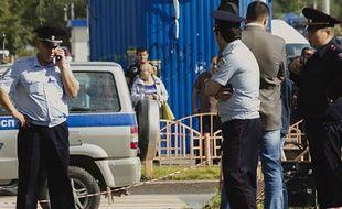Un homme a été abattu à Surgut, en Russie, après une attaque au couteau, le 19 août 2017.