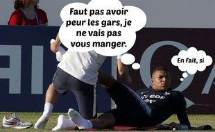 L'attaquant des Bleus Kylian Mbappé fait peur aux supporters croates.