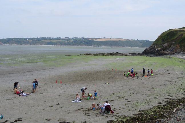 La plage de Lermot, à Hillion, l'une des seules plages du secteur ouvertes le 17 juillet 2019.