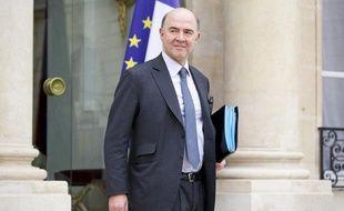 Pierre Moscovici, ministre de l'Economie et des Finances, à la sortie d'un conseils des ministres le 6 mars 2013.
