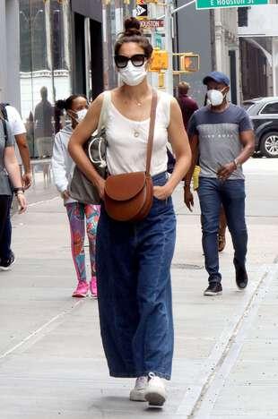 Katie Holmes, le 14 juin, à New York.