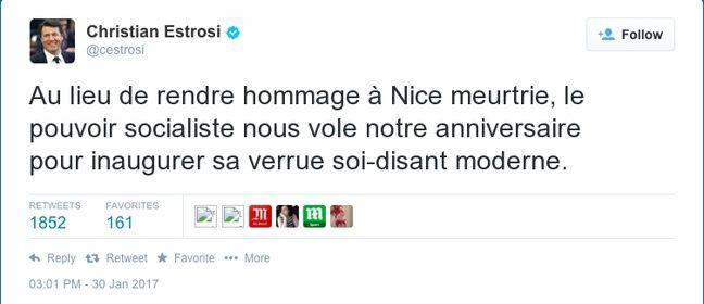 Christian Estrosi aurait souhaité une autre date pour l'inauguration du Centre Pompidou 2017