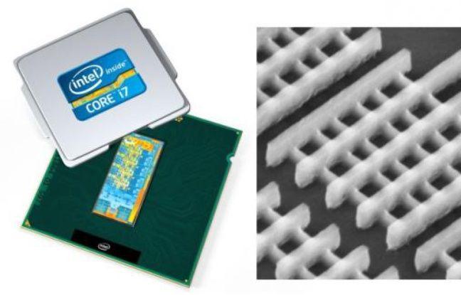 L'architecture 3D du processeur Ivy Bridge d'Intel.