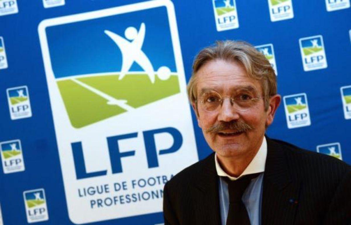"""Frédéric Thiriez a été réélu sans surprise vendredi à la tête de la Ligue de football professionnel (LFP), qu'il dirige depuis dix ans, et a placé ce nouveau mandat de quatre ans sous le signe du """"combat"""" face à une situation économique difficile. – Franck Fife afp.com"""