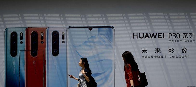 Une publicité pour le Huawei P30 en Chine.