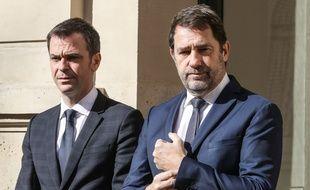 Olivier Véran, ministre de la Santé, et Christophe Castaner, ministre de l'Intérieur.
