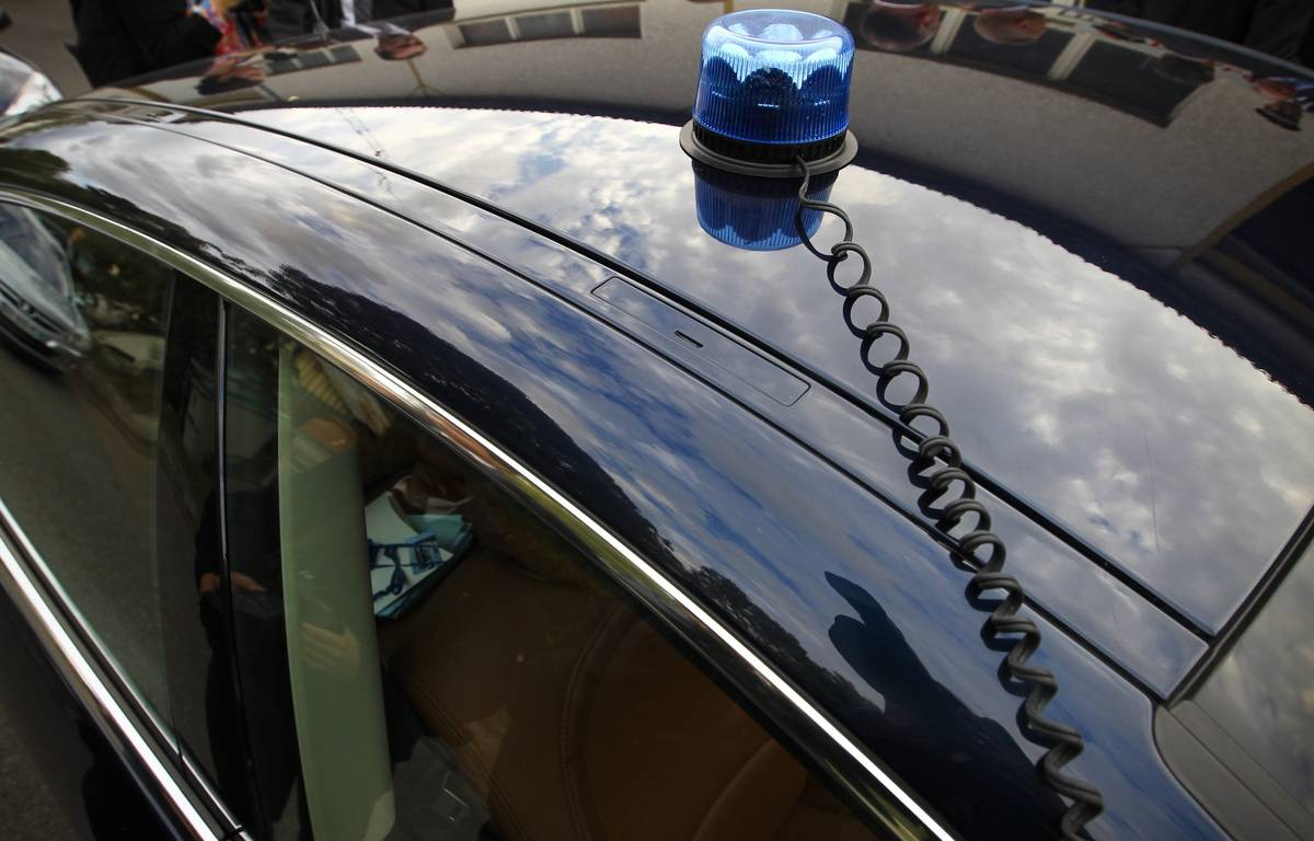 Une voiture de police avec gyrophare. (Illustration) – Fred Scheiber/20 Minutes