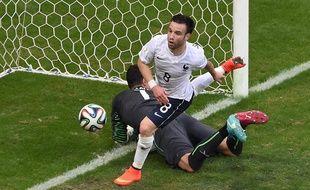 Mathieu Valbuena vient de marquer contre la Suisse, le 20 juin 2014.