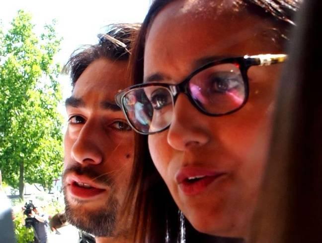 Evry, le 19 juin 2017. Ulysse Rabaté et Farida Amrani, le suppléant et la candidate de La France insoumise dans la 1ère circonscription de l'Essonne.