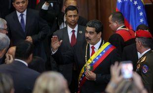Le président vénézuélien Nicolas Maduro s'est exprimé lors d'une session spéciale devant la Cour suprême, le 24 janvier 2019.
