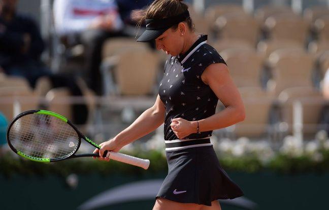 Simona Halep, ici lors de son 8e de finale remporté lundi contre Iga Swiatek à Roland Garros.
