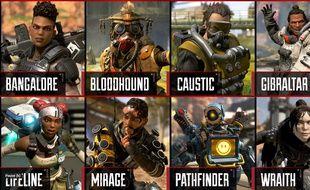 Les personnages du jeu Apex Legends (capture d'écran - Electronic Arts)