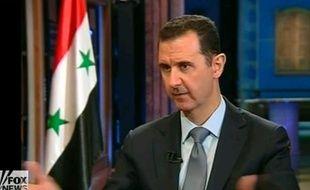 Bachar al-Assad lors d'une interview donnée à la chaîne américaine Fox News