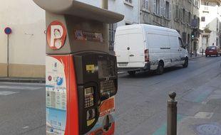 Un horodateur à Marseille.