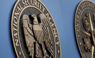 L'emblème de l'agence américaine de surveillance National Security Agency (NSA), à Fort Meade aux Etats-Unis.