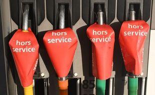 Des pompes à essence en rupture de stock à Marseille, le 24 décembre 2019.