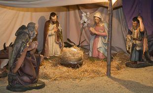 Crèche de Noël. Illustration