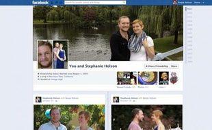 Facebook donne un exemple de «page de couple»