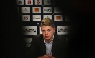 Le milieu polonais du TFC Dominik Furman lors de sa présentation devant la presse, le 16 janvier 2014 à Toulouse.