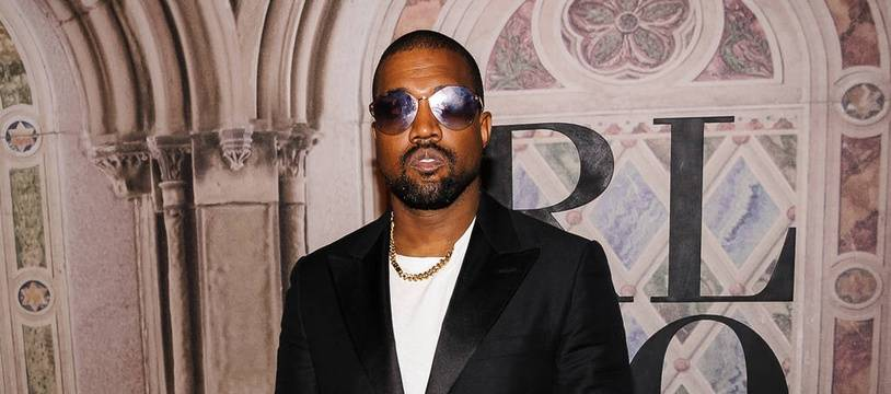 Le rappeur Kanye West à la Fashion Week de New York