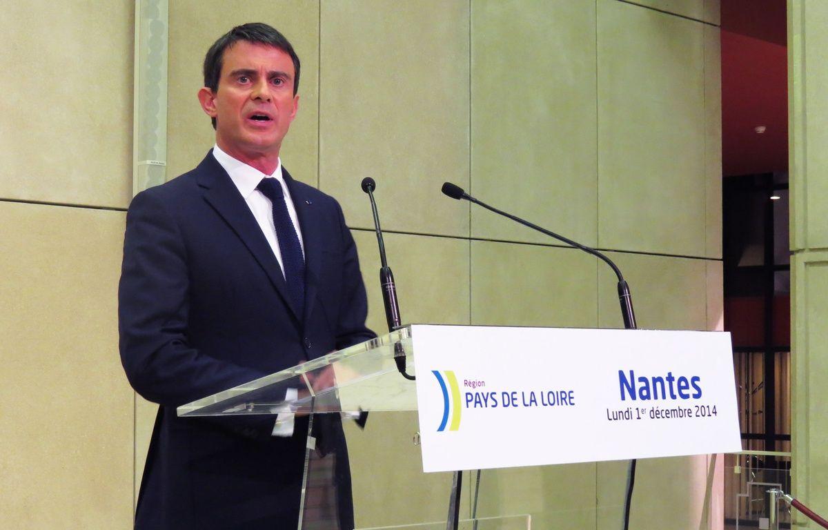 Manuel Valls, au conseil régional des Pays de la Loire, ce lundi – F. Brenon / 20 MInutes
