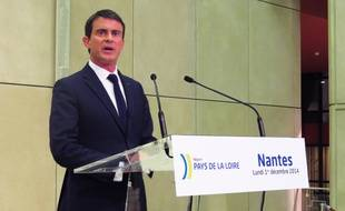 Manuel Valls, au conseil régional des Pays de la Loire, ce lundi