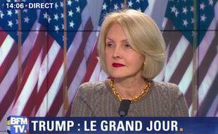 L'auteur et essayiste Evelyne Joslain sur le plateau de BFMTV