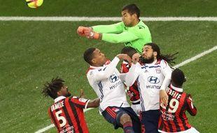 Benitez a fait un gros match et permis à Nice de l'emporter contre Lyon, le 10 février 2019.