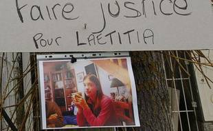 Une photo de Laëtitia placardée à La Bernerie-en-Retz, en Loire Atlantique, le 24 janvier 2011.