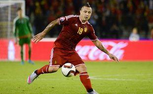 Le milieu de terrain de la Belgique Radja Nainggolan lors d'un match contre la Bosnie le 3 septembre 2015.