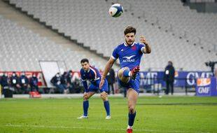 Romain Ntamack lors de France-pays de Galles, le 19 mars 2021 au Stade de France.