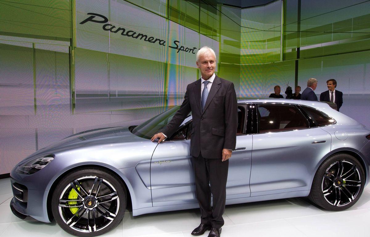 Matthias Muller, le nouveau président de Volkswagen, le 27 septembre 2012 – PRM/SIPA