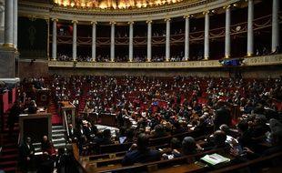 L'hémicycle de l'Assemblée nationale, à Paris. (archives)