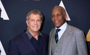 Les acteurs Mel Gibson et Danny Glover