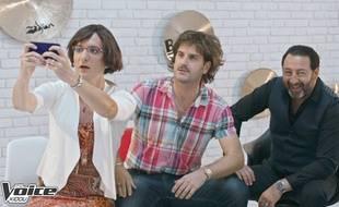 David Marsais, Grégoire Ludig et Kad Merad dans un sketch de «Ce soir, c'est Palmashow».