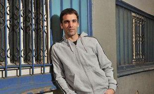 L'escrimeur,Nicolas Lopez le 13 octobre 2010 à Paris.