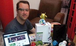 Chef de production chez Ama, Guillaume Campion a adopté les Google Glass.