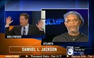 Capture d'écran d'une émission avec Samuel L. Jackson