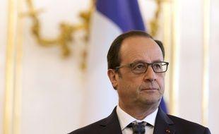 Francois Hollande le 19 juin 2015 à Bratislava.  AFP PHOTO / KENZO TRIBOUILLARD