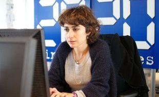 Isabelle Saporta, journaliste et auteur du «Livre Noir de l'agriculture» lors d'un chat à la rédaction le 22 février 2011