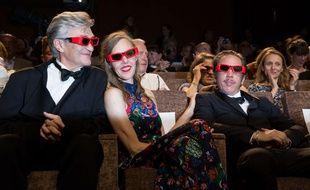 Wim Wenders et son équipe lors de la projection des Beaux jours d'Aranjuez le 1er septembre 2016 à la Mostra de Venise
