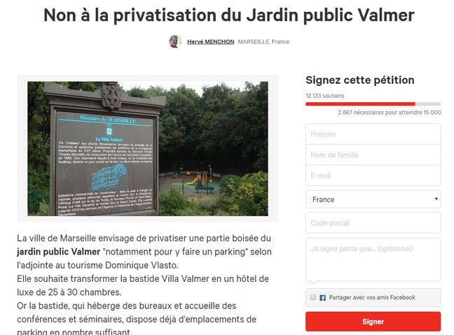 La pétition en ligne.