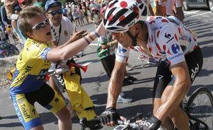 Son leader en jaune, Richie Porte portera encore le maillot à pois ce jeudi.