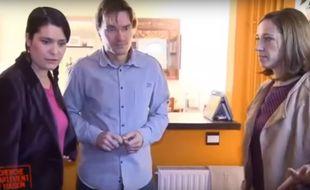 Suzanne et Yarek lors du tournage de Recherche appartement ou maison en 2013.